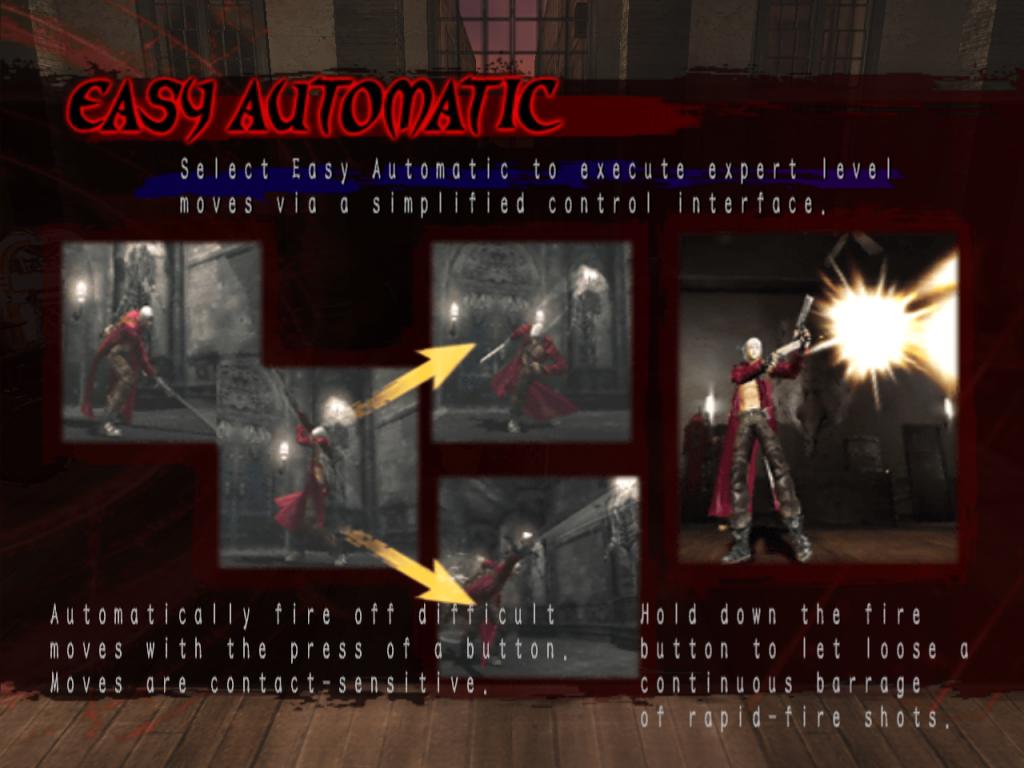 Easy Automatic Mode pop-up in Devil May Cry 3.