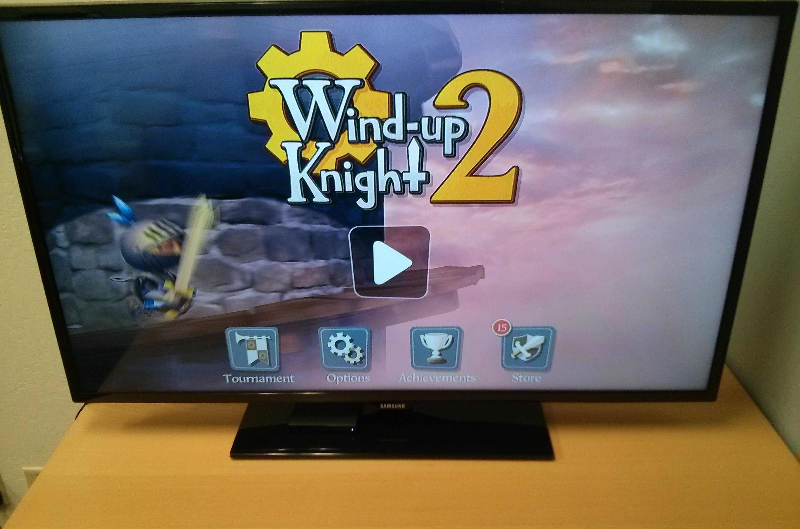 Wind-up Knight 2 is pretty flippin' sweet on a TV.